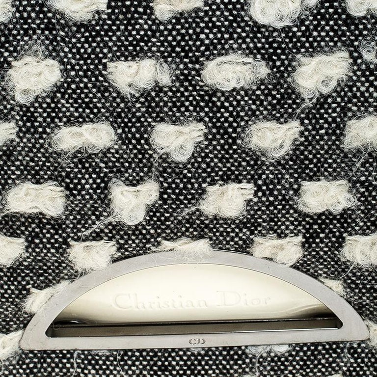 Dior Grey Tweed Limited Edition Beaded Malice Shoulder Bag For Sale 2