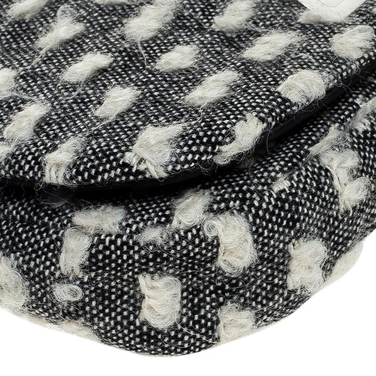 Dior Grey Tweed Limited Edition Beaded Malice Shoulder Bag For Sale 3