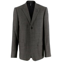 Dior Grey Wool Houndstooth Single Breasted Jacket 50