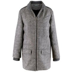 Dior Grey Wool Knit Distressed Embroidered Kids Coat - Size 12+ Years