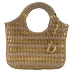 DIOR Handbag in Gold Leather