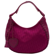 Dior Heart Charm Hobo Bag in Hot Pink