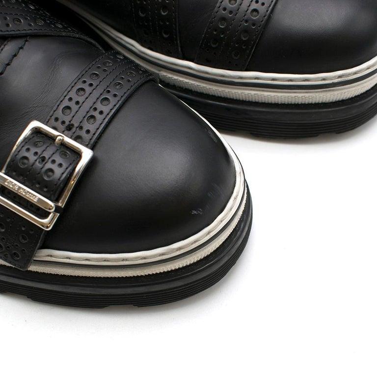 Dior Homme Black Leather Cross Strap Platform Brogues  - US8/EU41 For Sale 6
