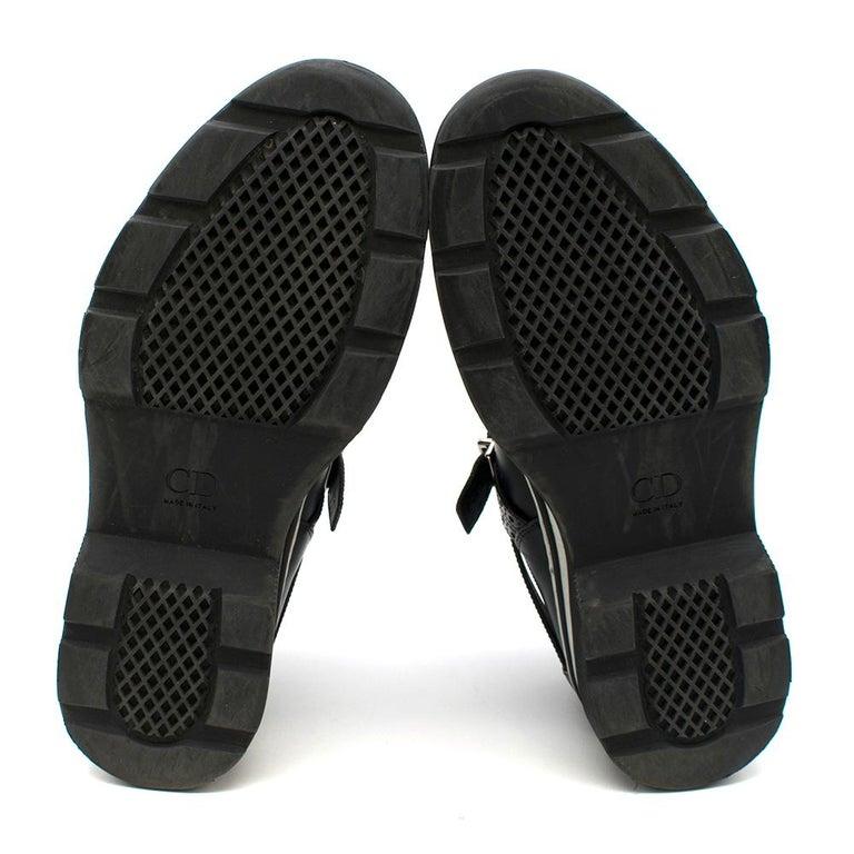 Dior Homme Black Leather Cross Strap Platform Brogues  - US8/EU41 For Sale 4