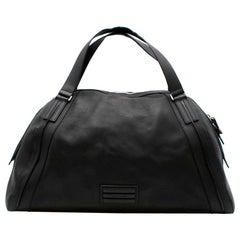 Dior Homme Black Leather Weekender Bag