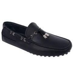 Dior Homme Mens Black Calfskin Tassel Front Driver Loafers