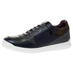 Dior Homme Multicolor Leather And Fabric Trim Low Top Lace Up Sneakers Size 43.5