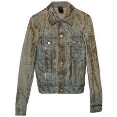 Dior Homme Pale Blue Waxed Denim Jacket S