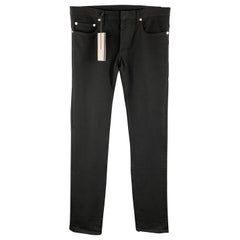 DIOR HOMME Size 30 Black Cotton Stretch Button Fly Jeans