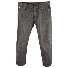 DIOR HOMME Size 32 Black Wash Denim Button Fly Jeans