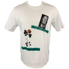 DIOR HOMME Size S White THEY SHOULD JUST LET US RAVE Graphic T-shirt