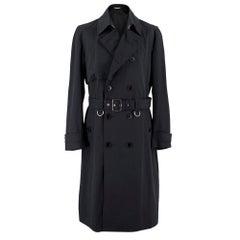 Dior Homme Virgin Wool Black Trench Coat UK 40