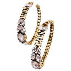 DIOR hoop earrings with rhinestones