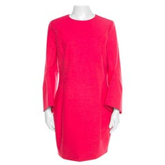 Dior Hot Pink Cotton Long Flared Sleeve Dress M