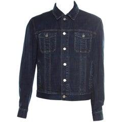 Dior Indigo Dark Wash Denim Button Front Jacket XXL