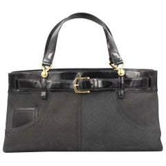 Dior Jeans tote handbag in leather