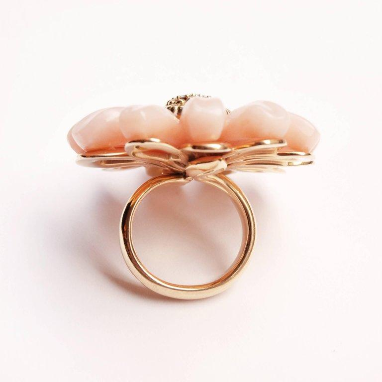 Dior Joaillerie Designed by Victoire de Castellane Pink Opal and Diamond Ring In Good Condition For Sale In Kent, GB
