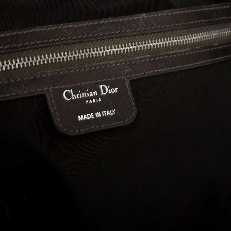 Dior Khaki Coated Canvas Medium Panarea Tote For Sale 5