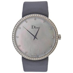 Dior La D de Dior Satine Mother of Pearl Diamond Watch CD043115M001