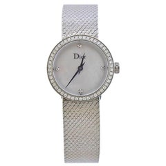 Dior La D de Dior Satine Mother of Pearl Diamond Watch CD047111M001