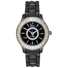 Dior Ladies White Gold Diamond Black Ceramic Dior VIII Automatic Wristwatch