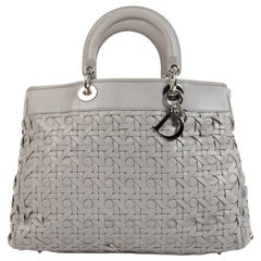 Dior Lady Dior Avenue Grey Tote Bag