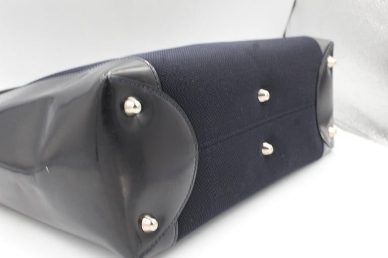Dior Lady Dior handbag in canvas and leather In Excellent Condition In Paris, FR