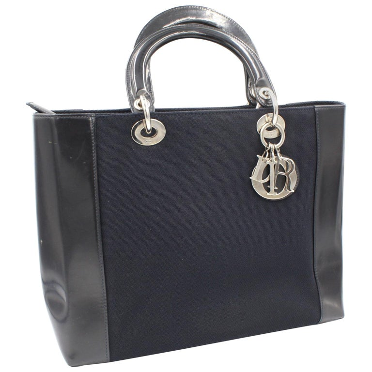Dior Lady Dior handbag in canvas and leather