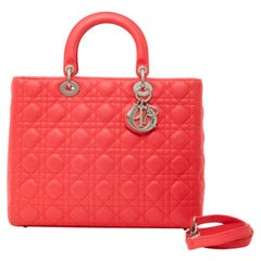 Dior, Lady Dior in red leather