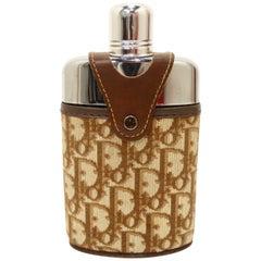 Dior Late 20th Century Brown/Tan Monogram Flask
