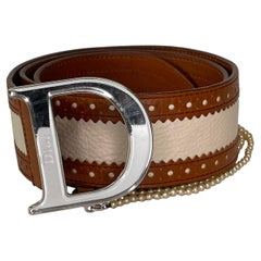 Dior Leather Detective Pearl Belt