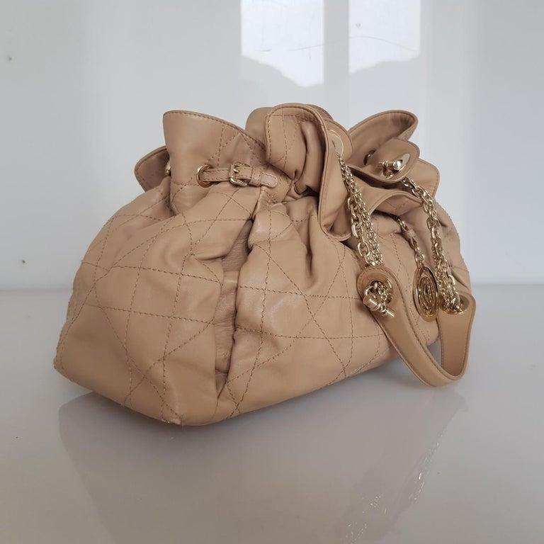 Brown Dior Leather Handbag For Sale