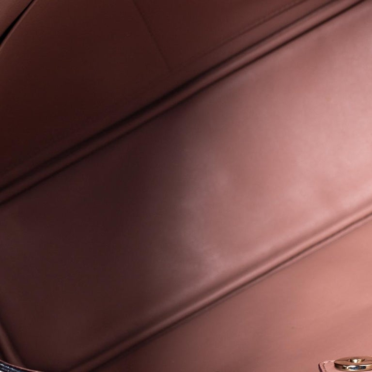 Dior Light Beige Leather Medium Diorissimo Tote For Sale 2