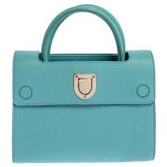 Dior Light Blue Leather Mini Diorever Bag