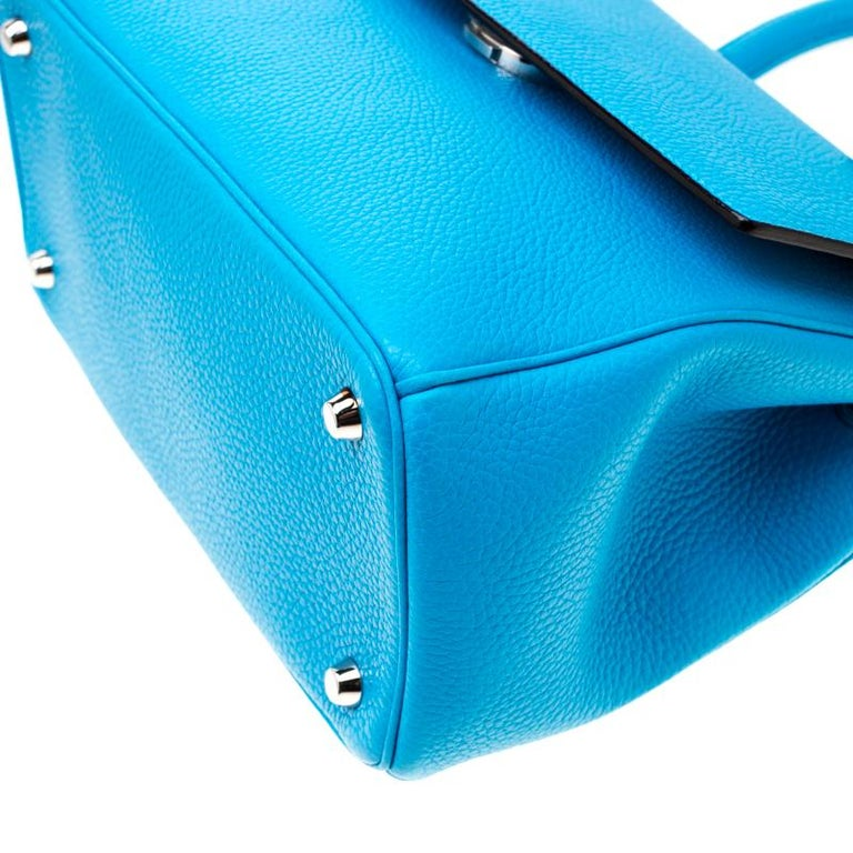 Dior Light Blue Leather Small Be Dior Flap Bag For Sale 7