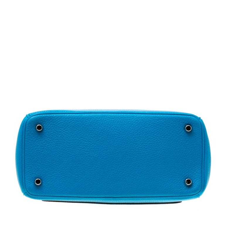 Dior Light Blue Leather Small Be Dior Flap Bag For Sale 1