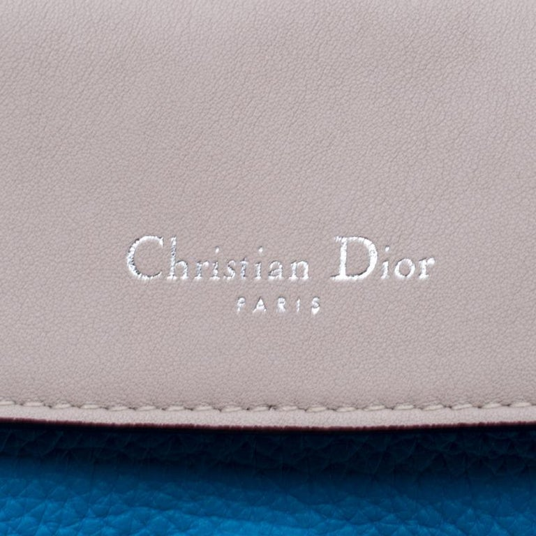 Dior Light Blue Leather Small Be Dior Flap Bag For Sale 2