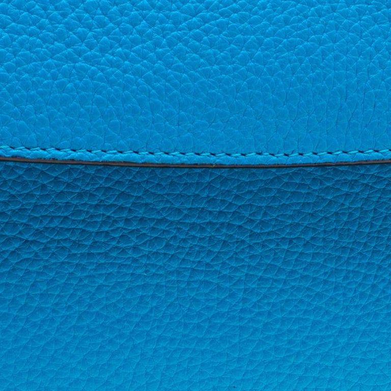 Dior Light Blue Leather Small Be Dior Flap Bag For Sale 3