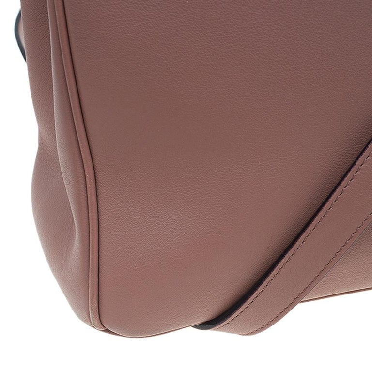 Dior Light Brown Leather Large Diorissimo Shopper Tote For Sale 6