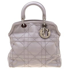 Dior Light Purple Cannage Leather Granville Tote