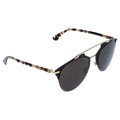 Dior Matte Grey and Pale Blonde Havana/ Grey Dior Reflected Aviator Sunglasses
