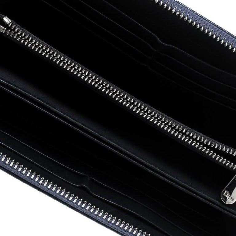 f0721ca1e3303 Dior Metallische Blauer Lackleder Damen Geldbeutel mit Reißverschluss 3