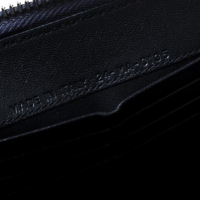 fdbe698296707 Dior Metallische Blauer Lackleder Damen Geldbeutel mit Reißverschluss 7