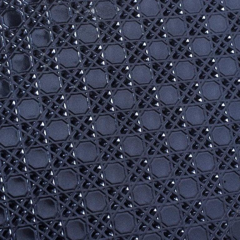 33fcd8c7f85db Dior Metallische Blauer Lackleder Damen Geldbeutel mit Reißverschluss 9