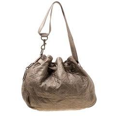 Dior Metallic Brown Cannage Leather Shoulder Bag