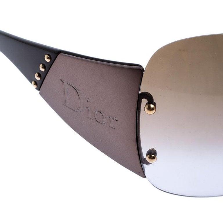 Dior Metallic/Brown Diorito 1Shield Sunglasses For Sale 2