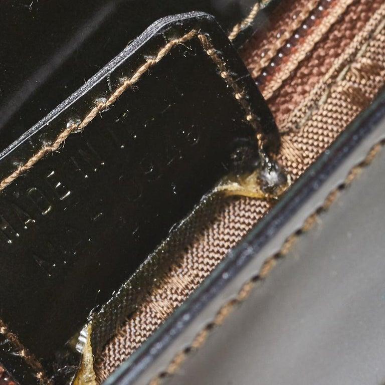 Dior Metallic Olive Green Glossy Leather Vintage Malice Pearl Shoulder Bag For Sale 5