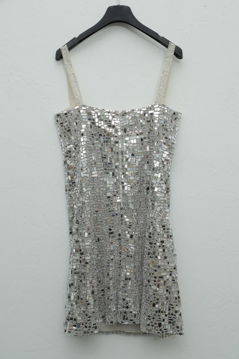 Dior Mirror Embroidered Dress from The Hall of Mirror Collection Spring 2008 For Sale 1