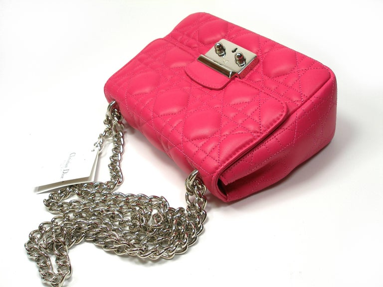 Women's Dior Miss Dior Bag pink cannage Leather Small  Size / BRAND NEW