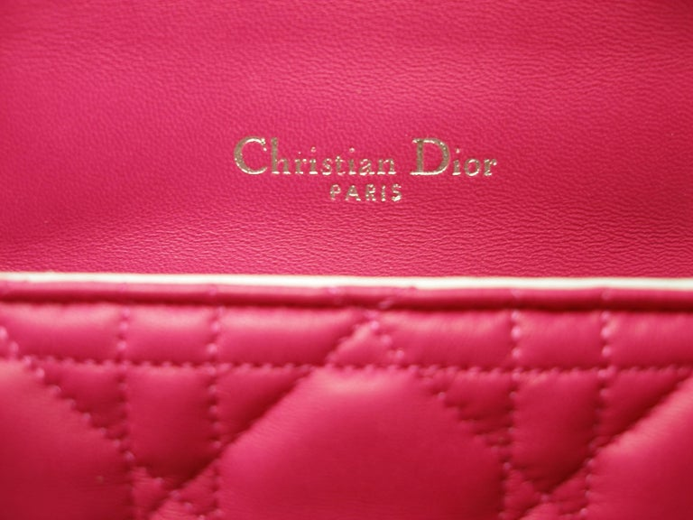 Dior Miss Dior Bag pink cannage Leather Small  Size / BRAND NEW 3